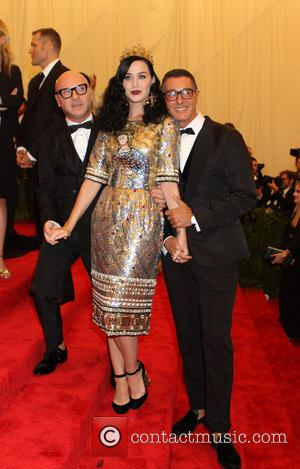 Stefano Gabbana, Katy Perry and Domenico Dolce