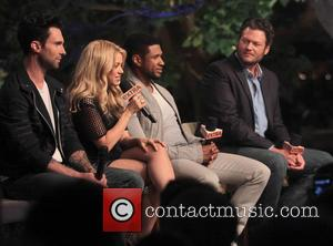 Adam Levine, Shakira, Usher and Blake Shelton