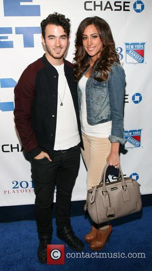 Kevin Jonas and Danielle Jonas - New York Rangers Roll Out the