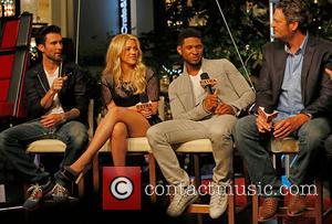 Adam Levine, Shakira, Usher and Blake Shelton