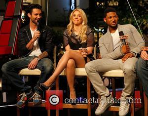 Adam Levine, Shakira and Usher