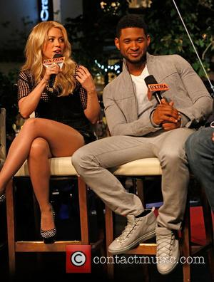Shakira and Usher - The US coaches of the Voice at The Grove to appear on entertainment news show 'Extra'...