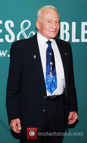 Buzz Aldrin - Buzz Aldrin attends a book signing for 'Mission to Mars: My Vision for Space Exploration' at Barnes...