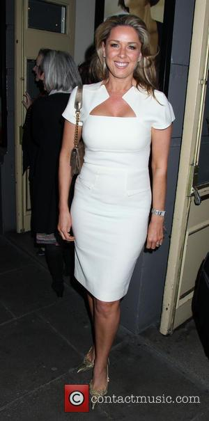 Claire Sweeney - Celebrities leaving the 'Passion Play' at the Duke of York Theatre - London, United Kingdom - Tuesday...