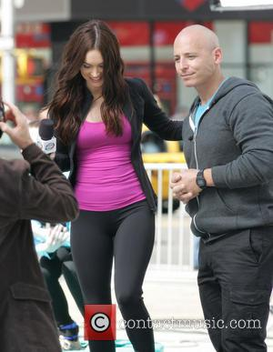 Megan Fox - Megan Fox during filming of 'Teenage Mutant Ninja Turtles' in Flatiron District - New York City, NY,...