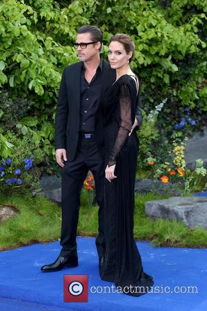 Brad Pitt and Angelina Jolie - Maleficent - private reception event held at Kensington Palace - Arrivals - London, United...