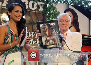 Raquel Pomplun and Hugh Hefner