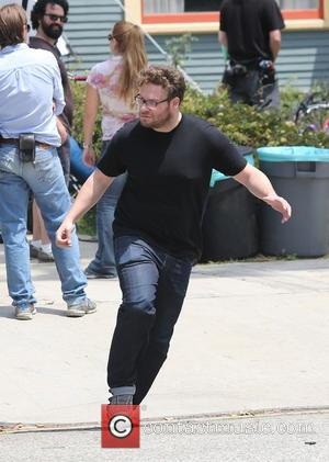 Seth Rogen - Actors on the set of 'Townies' - Los Angeles, California, United States - Thursday 9th May 2013