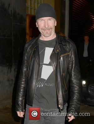 The Edge - Bono celebrates his 53rd birthday until after 5am with wife Ali Hewson and U2 bandmates The Edge...