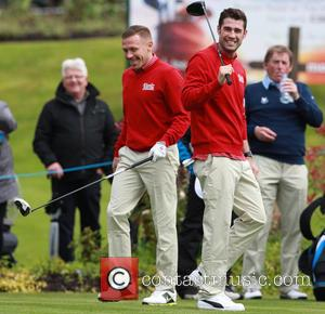 Matt Johnson and Craig Bellamy - Celebrities compete in the Celebrity Cup Golf Tournament as part of Golf Live at...
