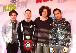 Patrick Stump, Andy Hurley, Joe Trohman and Pete Wentz of Fall Out Boy - 2013 Wango Tango presented by 102.7...
