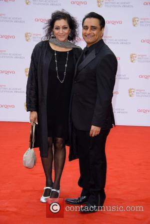 Meera Syal and Sanjeev Bhaskar - The Arqiva British Academy Television Awards (BAFTA's) 2013 held at the Royal Festival Hall...