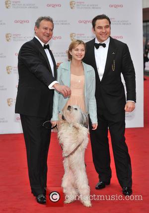 Tayla Butler, David Walliams and Hugh Bonneville