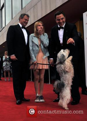 David Walliams, Tayla Butler and Hugh Bonneville