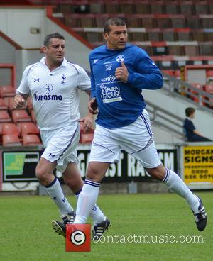 Tamer Hassan - Celebrity football match in aid of Haven House Children's Hospice at Leyton Orient Football ground - London,...