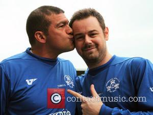 Tamer Hassan and Danny Dyer - Celebrity Football Match In memory of John Docker and in aid of Haven House...