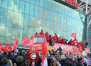 Manchester United 2012/13 premier league title parade - Manchester, United Kingdom - Monday 13th May 2013