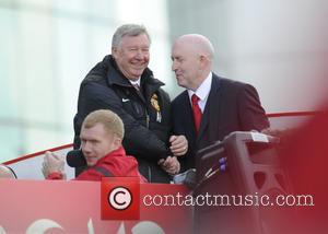 Sir Alex Ferguson and Paul Scholes - Manchester United 2012/13 premier league title parade - Manchester, United Kingdom - Monday...