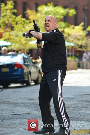 Paul Giamatti - Paul Giamatti as Aleksei Sytsevich the Rhino on the set of 'The Amazing Spider-Man 2' - New...