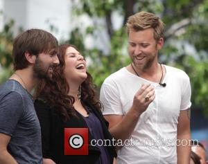 Dave Haywood, Hillary Scott and Charles Kelley - American country pop music group Lady Antebellum at The Grove to appear...