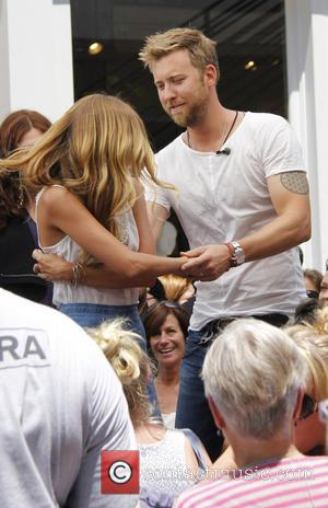Charles Kelley - American country pop music group Lady Antebellum at The Grove to appear on entertainment news show 'Extra'...