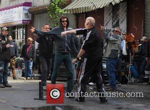 Paul Giamatti - Paul Giamatti as Aleksei Sytsevich the Rhino on the set of 'The Amazing Spider-Man 2' - Brooklyn,...