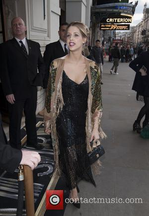 Peaches Geldof - Celebrities arrive at the Criterion Restaurant on Piccadilly before attending a screening at Cineworld Haymarket.