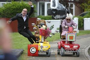 Harry Hill and Julie Walters - Harry Hill and Julie Walters film scenes for the movie 'Whatever Happened to Harry...