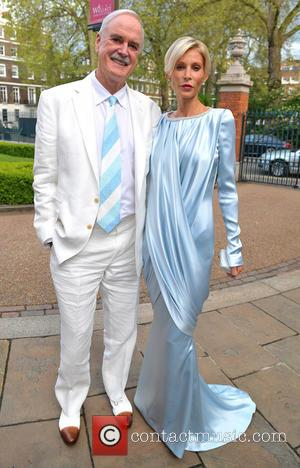 John Cleese and Jennifer Wade - Hello! Magazine 25th Birthday Party- Outside Arrivals - London, United Kingdom - Wednesday 15th...