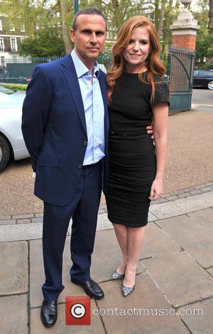 Patsy Palmer and Richard Merkell - Hello! Magazine 25th Birthday Party- Outside Arrivals - London, United Kingdom - Wednesday 15th...