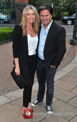 Tina Hobley and Oliver Wheeler - Hello! Magazine 25th Birthday Party- Outside Arrivals - London, United Kingdom - Wednesday 15th...