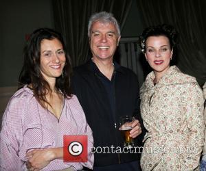 Sally Singer, David Byrne and Debi Mazar