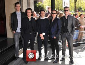 Orlando Weeks, Felix White, Rupert Jarvis, Hugo White and Sam DoyleRobert Dylan Thomas of The Maccabees - The Ivor Novello...