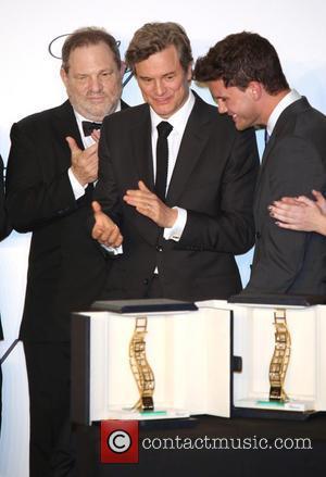 Harvey Weinstein, Jeremy Irvine and Colin Firth