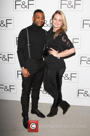JB Gill and Chloe Tangney - F&F autumn/winter 2013 collection showcase at Somerset House - Arrivals - London, United Kingdom...