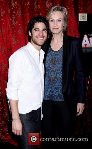 Darren Criss and Jane Lynch