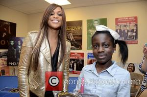 Eve - Rapper-songwriter Eve attends a meet and greet with Big Brothers Big Sisters Southeastern Pennsylvania at f.y.e. music store...