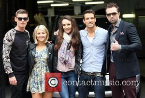 Kieron Richardson, Jazmine Franks, Claire Cooper, Danny Mac and Emmett Scanlan - Celebrities at the ITV studios - London, United...