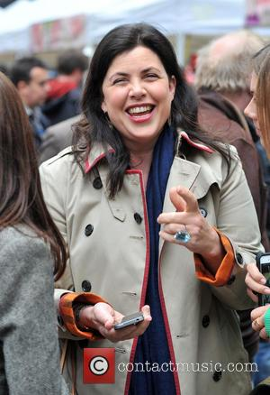 Kirstie Allsopp - Food Revolution Day - Jamie Oliver street party held outside his Shoreditch restaurant Fifteen - London, United...
