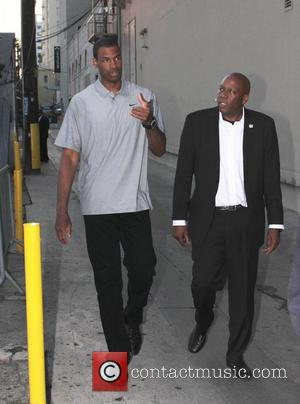 Jason Collins - Celebrities leaving the Jimmy Kimmel Live! lot - Los ANgeles, CA, United States - Friday 17th May...
