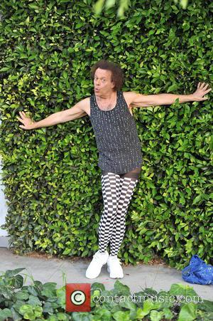 Richard Simmons - Richard Simmons poses for photographs in beverly hills - los angeles, CA, United States - Friday 17th...