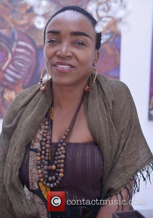 Emeline Michel - Donna Karen during the opening of the Discover Haiti Exhibition hosted by Urban Zen and Nomad Two...