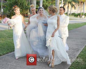 Marysol Patton, Alexia Echevarria, Adriana De Moura and Lisa Hochstein - Adriana De Moura and Frederic Marq were married today...