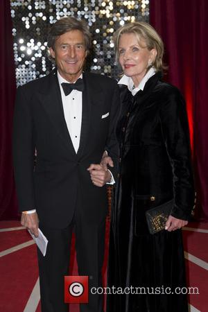 Nigel Havers and guest - The British Soap Awards 2013 held at the Media City - Arrivals - Manchester, England,...