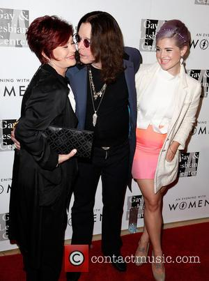 Sharon Osbourne, Ozzy Osbourne and Kelly Osbourne - Celebrities attend The L.A. Gay and Lesbian Center's 'An Evening With Women'...