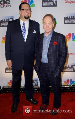 Penn Jillette and Raymond Joseph Teller - All-Star Celebrity Apprentice Finale - Red Carpet - New York City, NY, United...