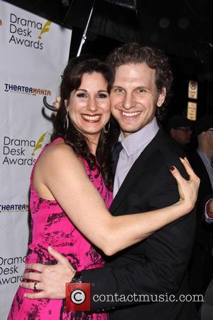 Stephanie J. Block and Sebastian Arcelus - 2013 Drama Desk Awards - Arrivals - New York City, New York, United...