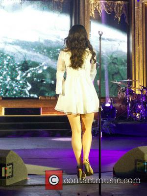 Lana Del Rey - American pop singer Lana Del Rey performing at the Hammersmith Apollo - London, United Kingdom -...