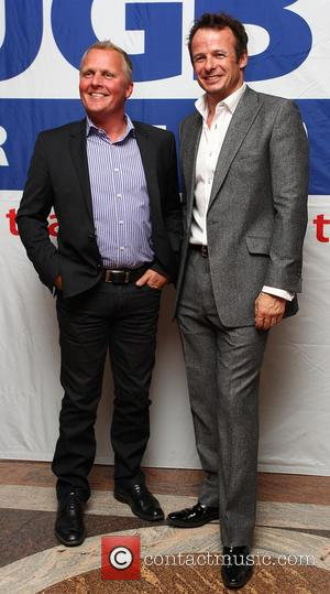 Johny Herbert and Austin Healy - The Mike Tindall Charity Golf Classic at Mannings Heath Golf Club- Reception - Horsham,...