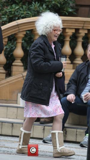 Julie Walters - Harry Hill: The Movie film set at a Theatre in London - London, United Kingdom - Monday...